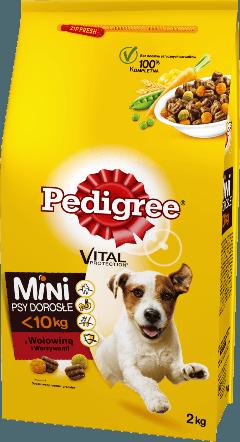 PEDIGREE® Vital Protection™ z Wołowiną i Warzywami, dla dorosłych psów małych ras