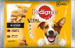 PEDIGREE® Vital Protection z Wołowiną i Jagnięciną, z Indykiem i Marchewką w Sosie dla dorosłych psów