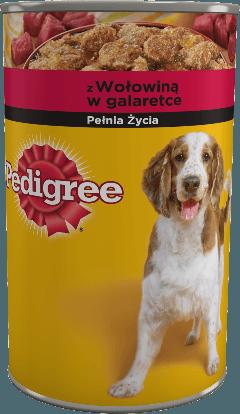 PEDIGREE® z Wołowiną w galaretce, dla dorosłych psów. 1200 g