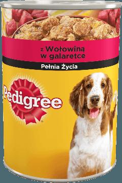 PEDIGREE® z Wołowiną w galaretce, dla dorosłych psów