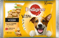 PEDIGREE® Vital Protection z Kurczakiem i Warzywami, z Wołowiną i Warzywami w Sosie dla dorosłych psów 4x100g