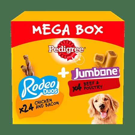PEDIGREE® Rodeo Duos & Jumbone Medium Dog Treats Mega Box 28 Chews