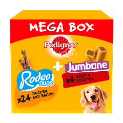 PEDIGREE® Rodeo Duos & Jumbone Medium Dog Treats Mega Box 28 Chews