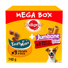 PEDIGREE® Tasty Minis & Jumbone Small Dog Treats Mega Box 740g