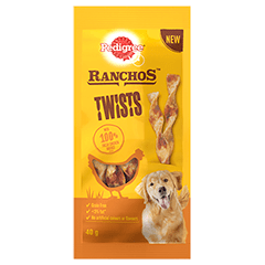 PEDIGREE® Ranchos Twist Dog Treats with Chicken 40g