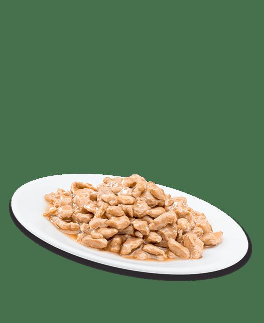 Au poulet et saumon