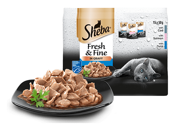 Sheba® Fresh & Fine kapsičky pro dospělé kočky Rybí výběr