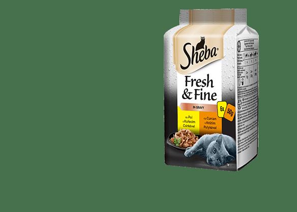 Sheba® Fresh & Fine kapsičky pro dospělé kočky Drůbeží výběr ve šťávě