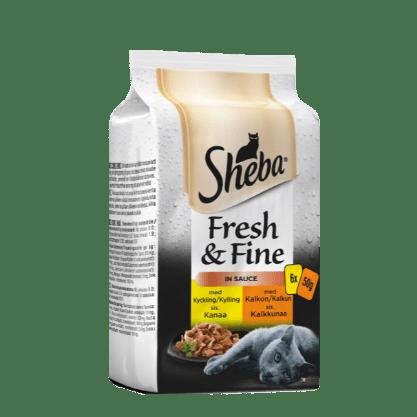 Sheba® Portionspose Fresh & Fine Fjerkræ med kylling & kalkun