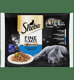 Sheba® Fine Flakes Fisk 4-pak