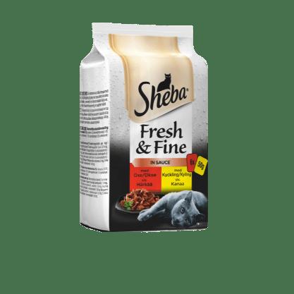 Sheba®Fresh & Fine i sås, med oxe & kyckling