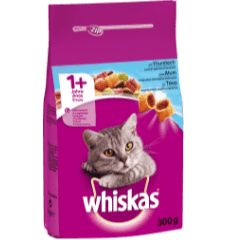 WHISKAS®ADULT 1+ Πλήρης Ξηρή Τροφή για Γάτα με Τόνο 300g