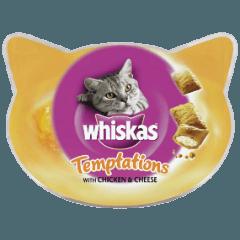 WHISKAS® Temptations™ με Κοτόπουλο και Τυρί 60g
