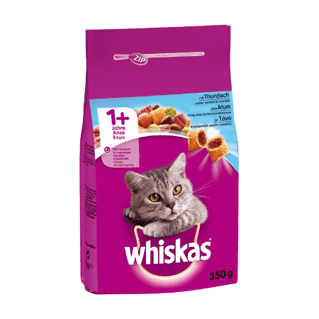 WHISKAS® ADULT 1+  Πλήρης Ξηρή Τροφή για Γάτα με Τόνο 350g