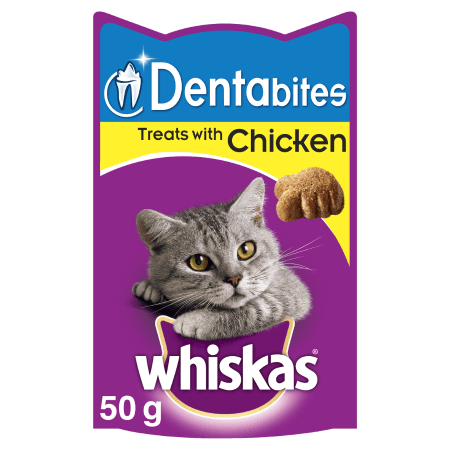 WHISKAS® Dentabites  Υγιεινές Λιχουδιές με Κοτόπουλο 50g