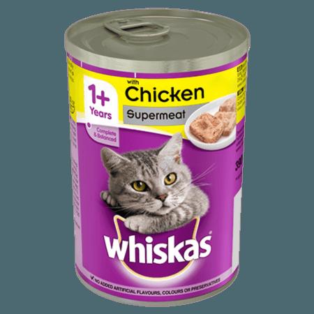 WHISKAS® 1+ Κονσέρβα με Κοτόπουλο Πατέ 400g