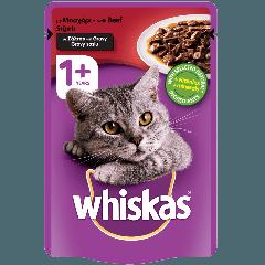 WHISKAS® 1+ Ετών Γάτα με Μοσχάρι σε Σάλτσα 100g