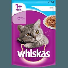 WHISKAS® 1+ Φακελάκι με Tόνο σε Σάλτσα 100g