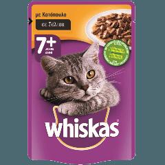 WHISKAS® SENIOR 7+ Ετών Ηλικιωμένη Γάτα Φακελάκι με Κοτόπουλο σε Σάλτσα 100g