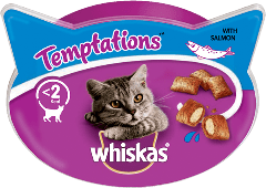 WHISKAS®  Temptations™ με Σολομό 60g