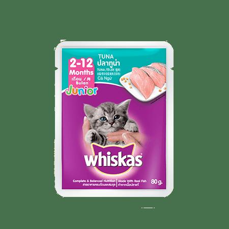 Beli Online Whiskas Junior Tuna Sachet Wet Food Whiskas