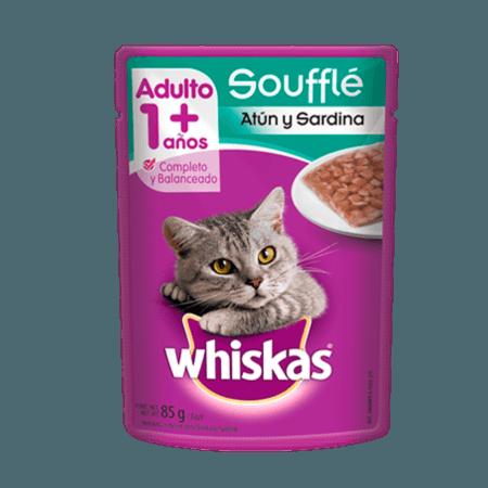 WHISKAS® Soufflé Atún y Sardina