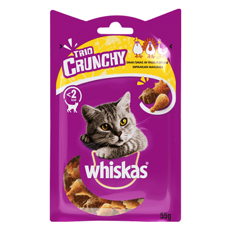 WHISKAS Trio Crunchy fjærfe Mix
