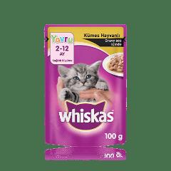 WHISKAS® Kümes Hayvanlı Gravy Soslu Yavru Kedi Maması