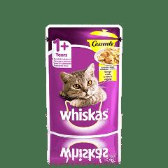 WHISKAS® Casserole з куркою в желе для дорослих котів