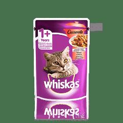 WHISKAS®  Casserole с говядиной в желе для взрослых кошек